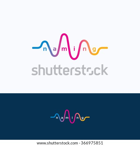Wave audio sound dance equalizer logo - stock vector