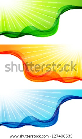 Wave background - stock vector