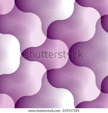 Wave background. Seamless pattern with violet elements - stock vector