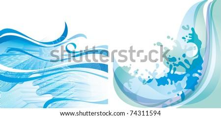 Wave background vector - stock vector