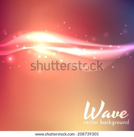 Wave background. Vector eps10. - stock vector