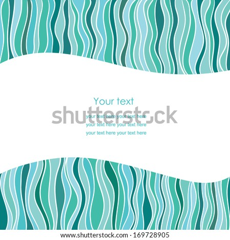 Wave border - stock vector