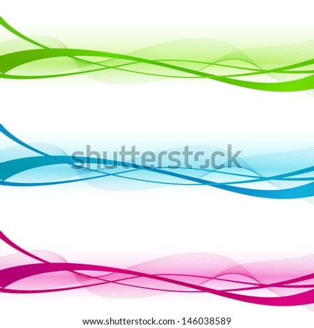 Wave design element - stock vector