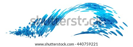 Wave design, stylized composition