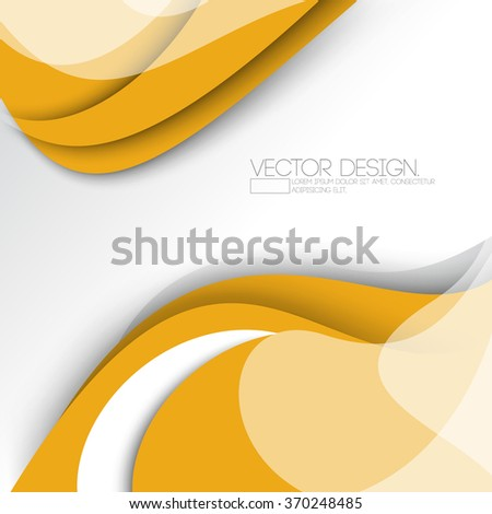 wave elements flat layout concept corporate background design - stock vector