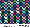 Wave geometric seamless pattern for background - stock vector