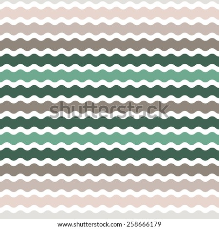 Wave green, brown gradient background, seamless pattern. Vector  - stock vector