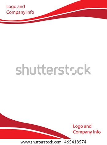 Wave letterhead template red stock photo photo vector wave letterhead template red spiritdancerdesigns Image collections
