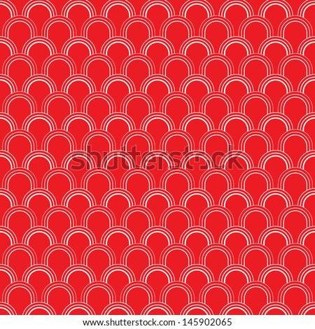 Wave Line Pattern - stock vector