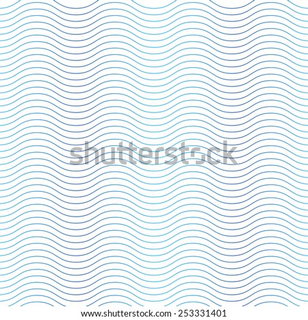 Wave line seamless background - stock vector