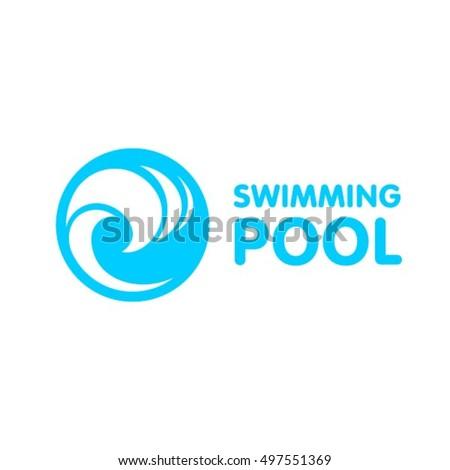 Vector four natural elements symbols stock vector for Pool design logo