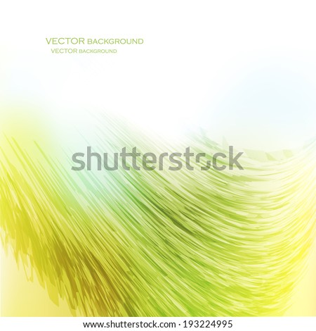 wave of fine lines - stock vector
