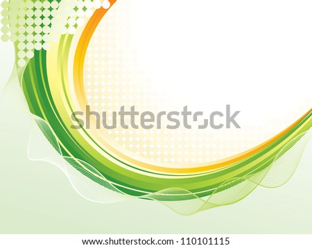 Wave pattern background - stock vector