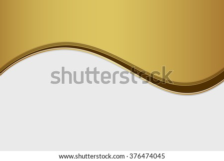 wave pattern golden abstract background - stock vector