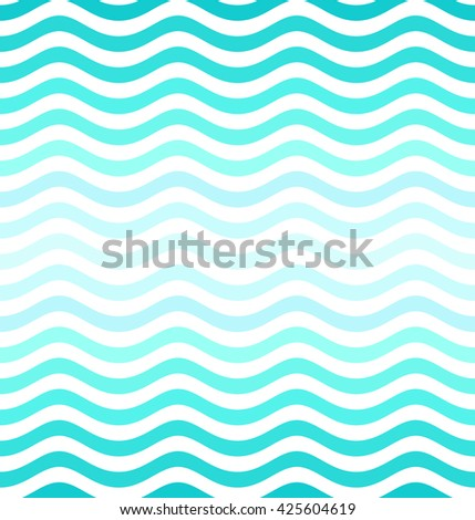 Wave pattern. Seamless background. Vector illustration.