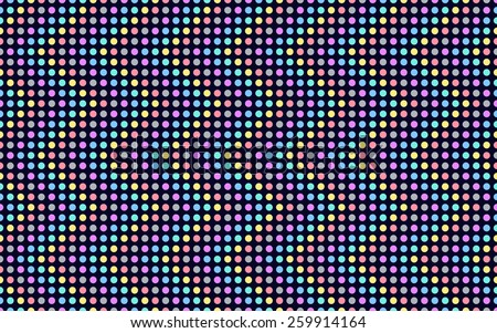 Wave Series Colored Dots Colors Circles Stock Vector ...