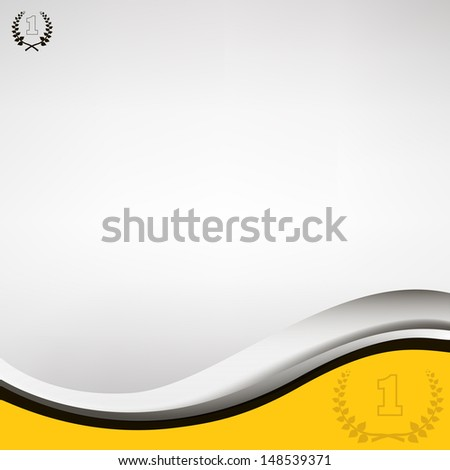 waved  background with laurel wreath. eps10 illustration  - stock vector