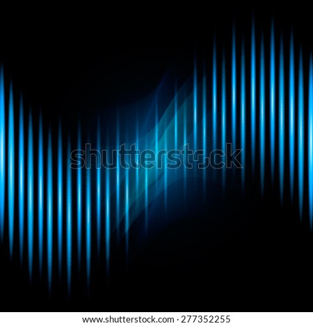 Waveform background. Vector illustration for club, radio or party - stock vector