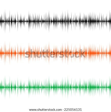 Waveform background. Vector illustration for club, radio, party, concerts or the audio technology advertising background. - stock vector