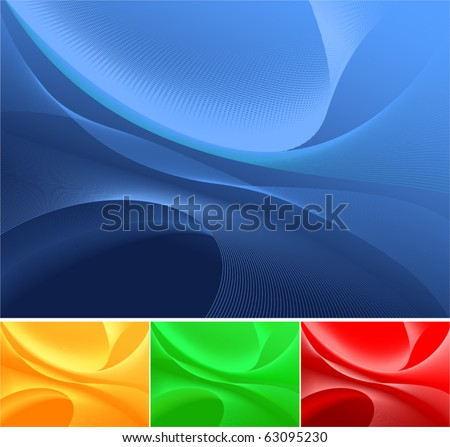 Waves, available in 4 colors. - stock vector