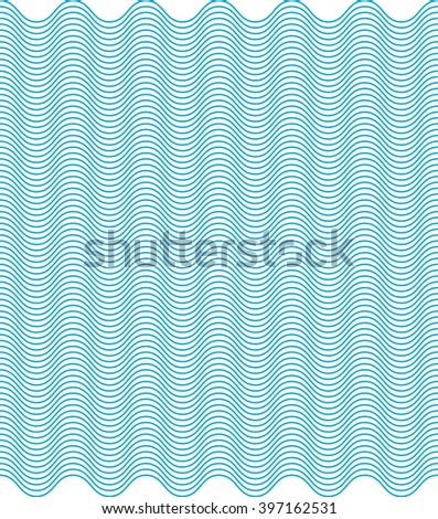 waves color seamless pattern - stock vector