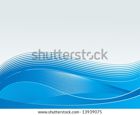 waves concept in blue, wallpaper