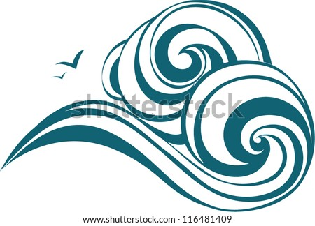 Waves decorative - stock vector