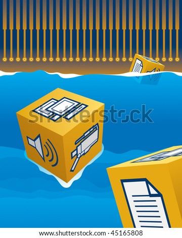 Waves of Technology - stock vector