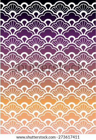 Waves pattern (vector) - stock vector