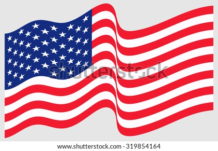 waving american flag stock vector 319854164 shutterstock rh shutterstock com waving american flag vector ai waving american flag vector free download
