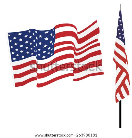 waving american flag flag on stand stock vector hd royalty free rh shutterstock com waving american flag vector free waving american flag vector free download