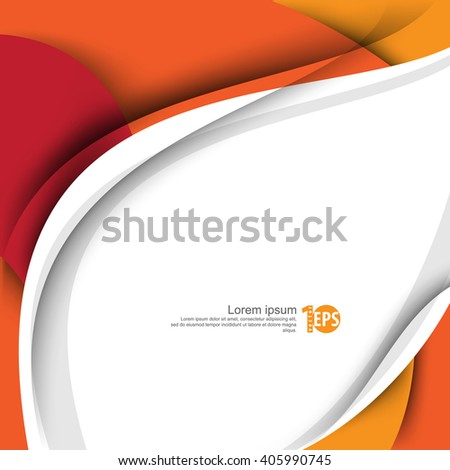 waving bent lines abstract eps10 vector design flat layout material background - stock vector