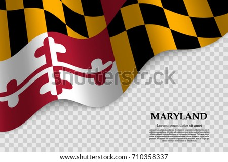 waving flag maryland state usa on stock vector 2018 710358337 rh shutterstock com maryland flag pattern vector waving maryland flag vector