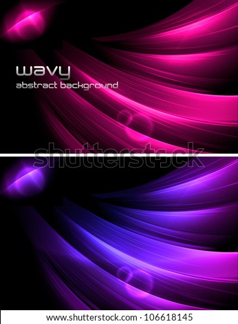 Wavy Abstract Background. A set of wavy abstract background. Each background separately on different layers. Suitable for your web background, design element and other. - stock vector