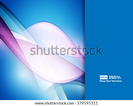 wavy abstract background with bright lines. Vector design. Eps10