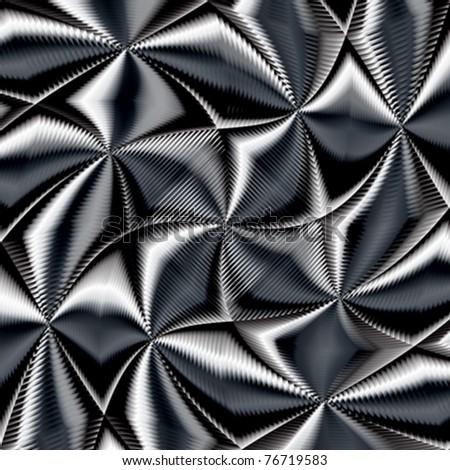 wavy abstract texture, vector art illustration - stock vector