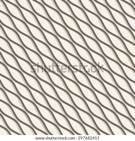 Wavy background. Repeating vector texture. Simple monochrome wavy striped wallpaper - stock vector