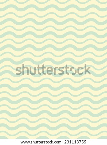 Wavy line background pattern with green lines over yellow - stock vector