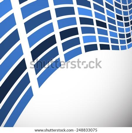Wavy rectangles vector image - stock vector