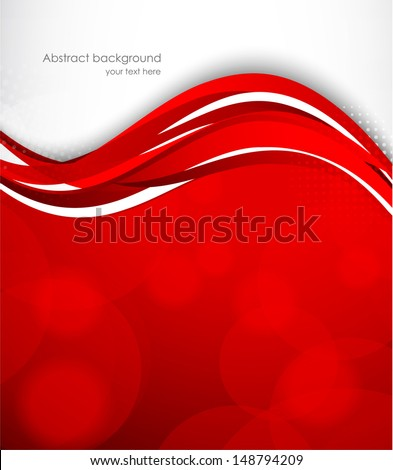 Wavy red background - stock vector