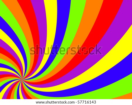 wavy swirl background, abstract vector art illustration - stock vector