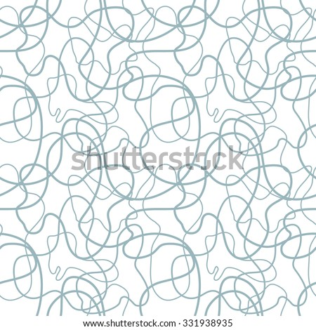 Wavy threads seamless pattern. Abstract seamless doodle vector pattern. 1960s style textile collection. Light gray.  Backgrounds & textures shop. - stock vector