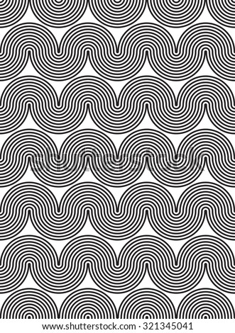 Wavy, waveform lines seamless pattern.