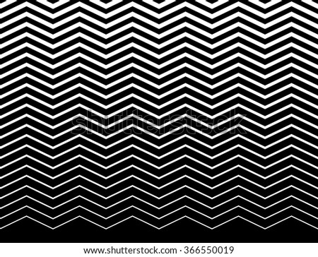 Wavy (zigzag) lines pattern. Horizontally seamlessly repeatable. - stock vector