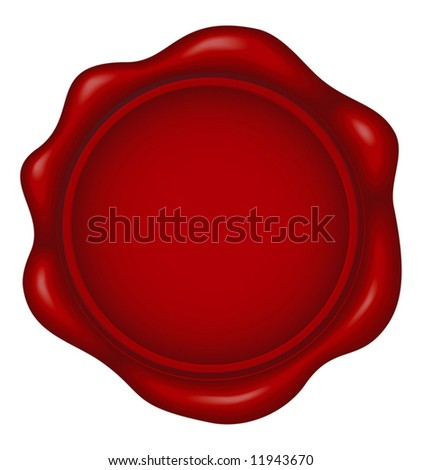 wax seal - blend and gradient only - stock vector
