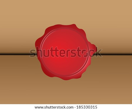 Wax seal. vector