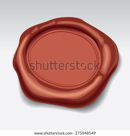 Wax Seal. Vector illustration. - stock vector