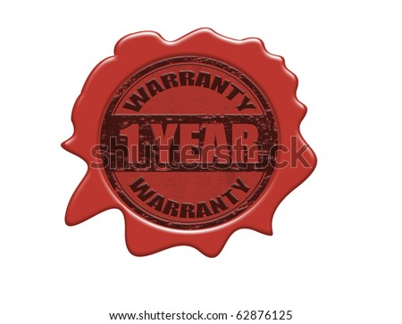 Wax seal with the text money back guaranteed, vector illustration