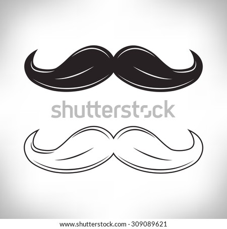 Waxed Hipster Mustache