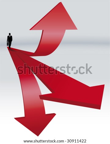 way to success and promotion - stock vector